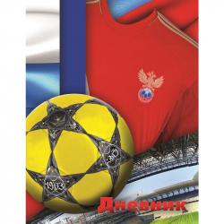 Дневник школьный для младших классов Апплика Футбольный мяч твердая обложка