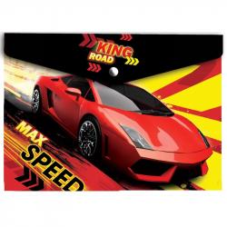 Папка для тетрадей Max Speed пластик. с кнопкой 180 мк А4, 22053013