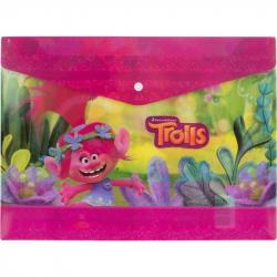 Папка для тетрадей Trolls пластик.с кнопкой 180 мк А4, 4252148