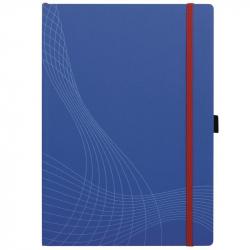Блокнот Avery Zweckform А4 80 листов синий в клетку на сшивке с фиксирующей резинкой (235х297 мм)