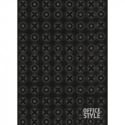 Блокнот Attache Intent А4 80 листов черный в клетку на сшивке (210х290 мм)