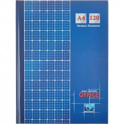 Бизнес-блокнот Проф-пресс Клетка А4 120 листов синий в клетку книжный переплет (205х290 мм)