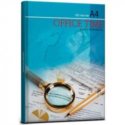 Бизнес-блокнот Проф-пресс Рабочие детали А4 120 листов синий с белым в клетку книжный переплет (200х300 мм)