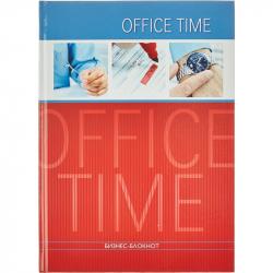 Бизнес-блокнот Проф-пресс Офисная жизнь А4 120 листов красный с синим в клетку книжный переплет (205х290 мм)