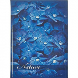 Блокнот Attache Flower А4 160 листов синий в клетку на сшивке (210х290 мм)