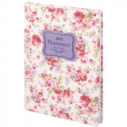 Ежедневник датированный на 2018 год InFolio Provence искусственная кожа А5 176 листов цветной (140x200 мм)