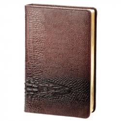 Ежедневник датированный на 2018 год InFolio Dandy искусственная кожа А5 176 листов коричневый (140x200 мм)