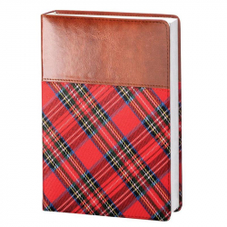 Ежедневник датированный на 2018 год InFolio Scotland искусственная кожа А5 176 листов красный (140x200 мм)