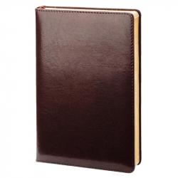 Ежедневник датированный на 2018 год InFolio Britannia рециклированная кожа А5 176 листов бордовый (140x200 мм)
