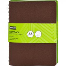 Ежедневник на спирали недатированный Attache Sorrento искусственная кожа A5 136 листов коричневый (180x230 мм)