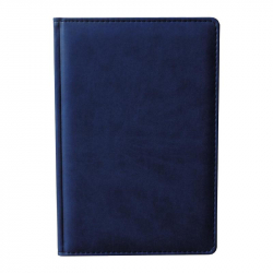 Ежедневник недатированный Attache Сиам искусственная кожа А5 176 листов синий (143x210 мм)