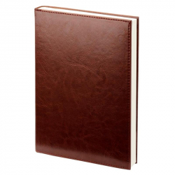 Ежедневник недатированный Attache Agenda искусственная кожа А6 144 листа коричневый (100х140 мм)