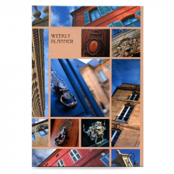 Еженедельник недатированный Городской стиль Архитектурные акценты 7БЦ А5 72 листа цветной (145x203 мм)