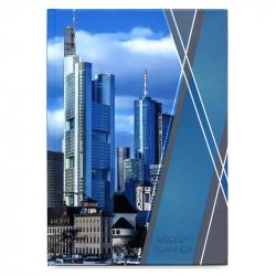 Еженедельник недатированный Городской стиль Небоскребы 7БЦ А5 72 листа цветной (145x203 мм)