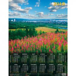Календарь настенный на 2018 год Лето (450х580 мм)