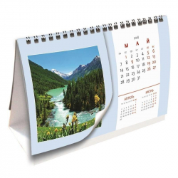 Календарь-домик настольный на 2018 год Родные просторы (200х115 мм)