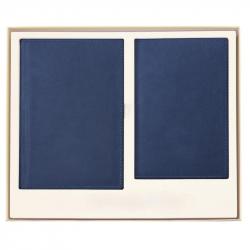 Набор недатированный Attache Офис синий (ежедневник А5, визитница)