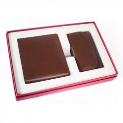 Подарочный набор Биллфорд (кожа, коричневый, ключница и портмоне)