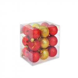 Набор елочных шаров Tukzar красный/золотой (5 см, 18 штук в упаковке)
