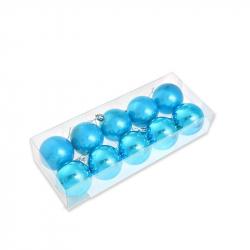 Набор елочных шаров Tukzar синий (6 см, 10 штук в упаковке)