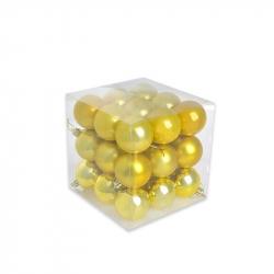 Набор елочных шаров Tukzar золотой (5 см, 27 штук в упаковке)