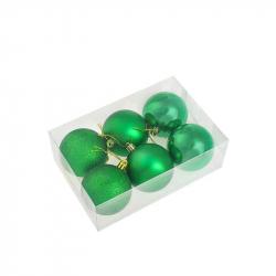 Набор елочных шаров Tukzar серебрянный (5 см, 8 штук в упаковке)