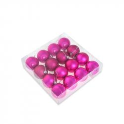 Набор елочных шаров Tukzar розовый (6 см, 16 штук в упаковке)