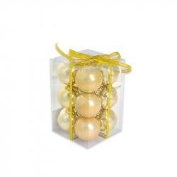 Набор елочных шаров Tukzar золотой (6 см, 12 штук в упаковке)