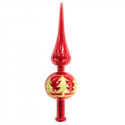 Верхушка для ели пластиковая Елочка красная (23 см)
