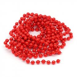 Новогоднее украшение Бусы шарики красные