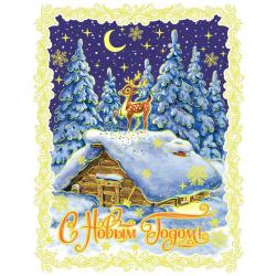 Наклейка новогодняя из ПВХ цельная (30x38 см)